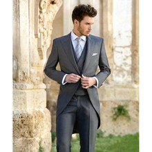 Men's suits, Slim Fit Groom Tuxedos Slit Groomsmen Mens Wedding Prom Suits Custom Made (Jacket+Pants+Vest)