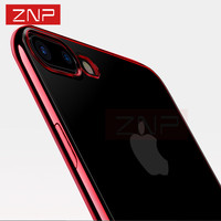 ZNP Luxury Ultra Thin Clear TPU Soft Mobile Phone Case For iPhone 6 6s 7 7 Plus Cover red cases for iphone 7 7 6 6s plus bag