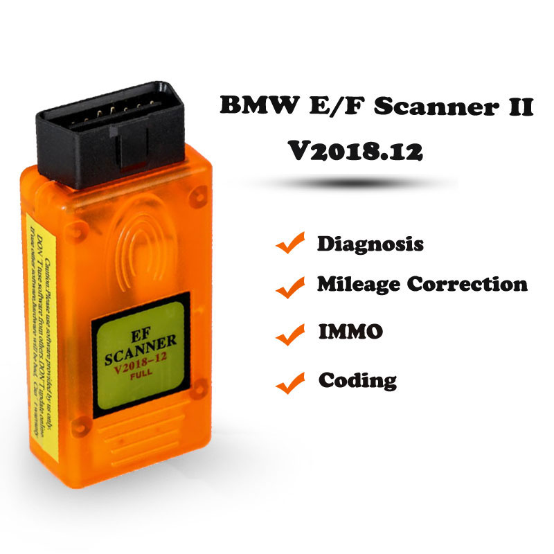 E/F Scanner II V2018 12 Full Version for BMW Diagnosis +IMMO