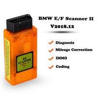 E/F Scanner II V2018.12 Full Version for BMW Diagnosis +IMMO + Mileage Correction +Coding