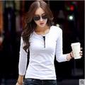 Белый Поло Рубашки Для Женщин Твердые Женщин Рубашки Поло Хлопок обычная Топы Обычная Рубашка-Поло С Длинным Рукавом Поло camicia донна blusa