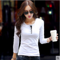 White Polos Shirts For Women Solid Womens Polo Shirts Cotton Plain Tops Plain Polo Shirt Long Sleeve Polos camicia donna blusa