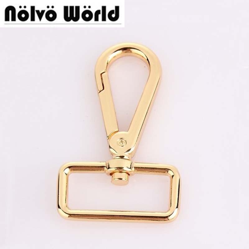 30pcs 32X60mm Trigger Snap Hook Swivel Hooks Clasp For Genuine Leather Bags Handbags Webbing Strap