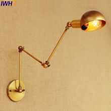 Светильник Настенный золотистый в винтажном стиле лампа Эдисона