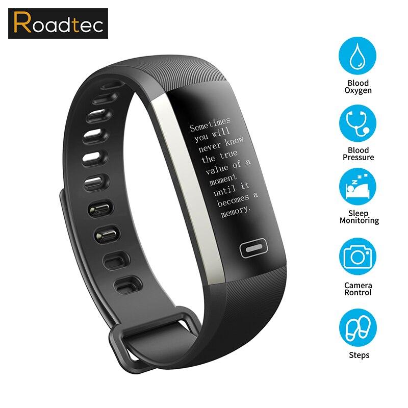 Roadtec M2/bande 2 Smart La Pression Artérielle Moniteur de Fréquence Cardiaque Fitness Bracelet Sport Smartband fitness montre bracelet poignet pulse