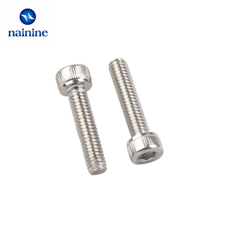 20Pcs M4 M5 M6 DIN912 304 Stainless Steel Hexagon Socket Head Cap Screws Hex Socket Bicycle Bolts HW003 m8 head hexagon socket capier disc hexagon hollow flange m6 hexagon headed concave m5 m6head hexagon socket