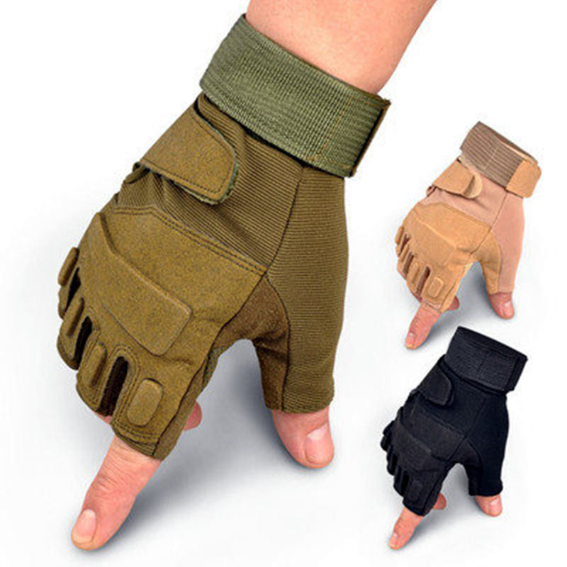 2020 Military Tactical Gloves Men Fighting Half Finger Army Military Gloves Anti-slip Outdoor Sports Fingerless Gloves Men Women