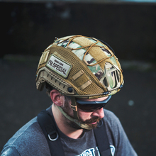 OneTigris Tactical Multicam Helmet Cover for XL Ops-Core FAST PJ Airsoft Helmets & L Size Ballistic Helmets black bk color special swat force sticky hook and loops set for marsoc devgru ops fast mich ach lwh cvc pasgt gentex helmets