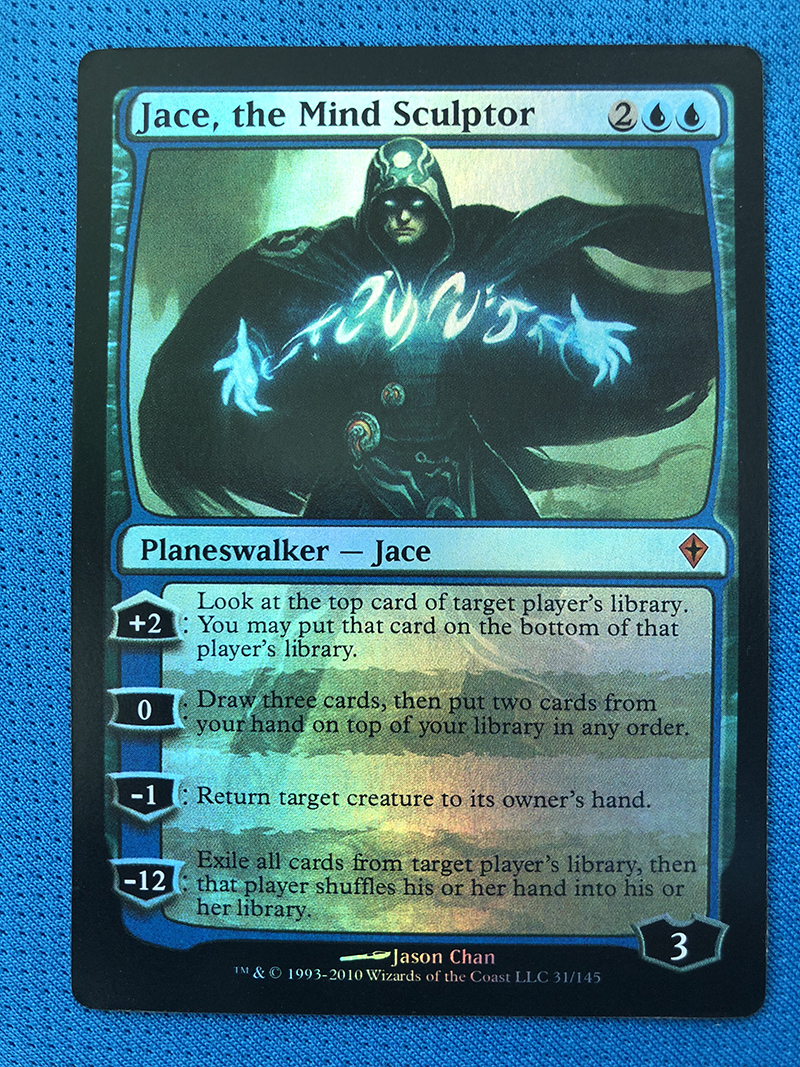 Jace, The Mind Sculptor Worldwake Foil Magician Proxyknig 8.0  VIP The Proxy Cards To Gathering Every Single Mg Card.