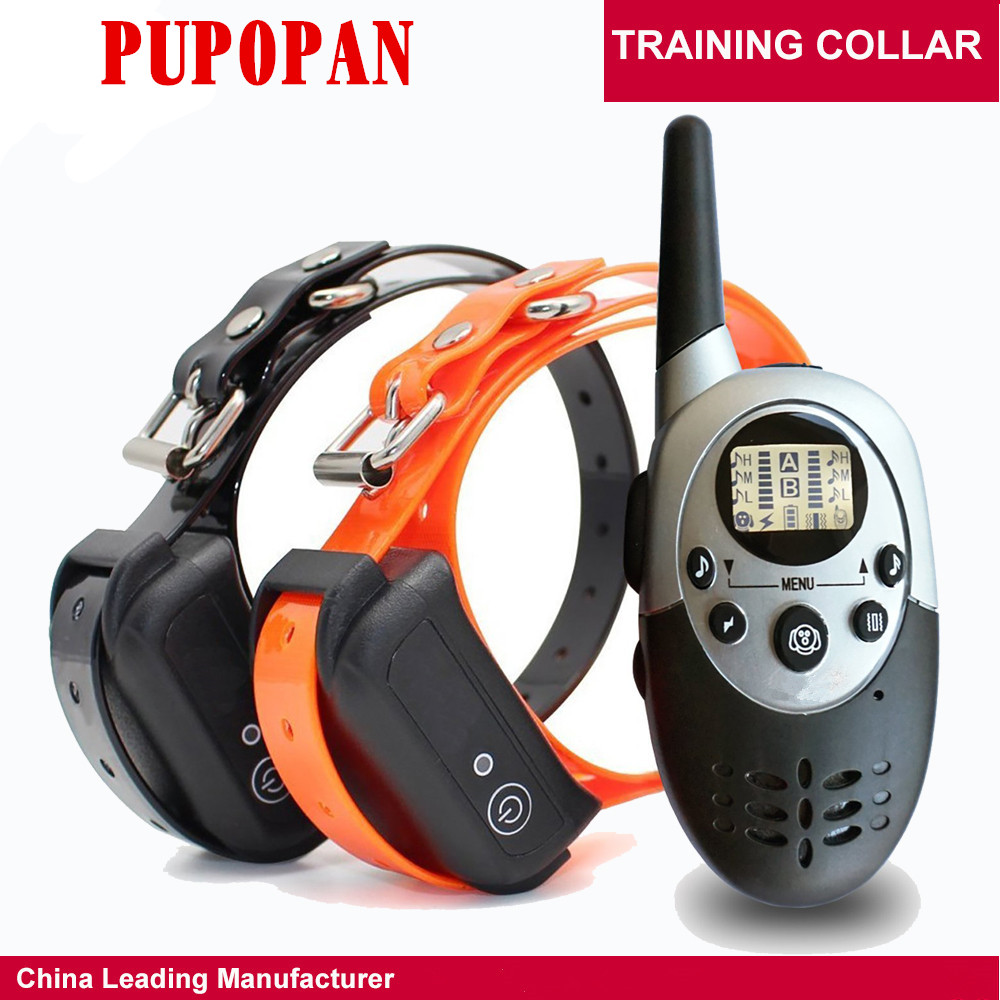 Dog Training Collar1000M Pet Training Collar Dog Trainer Waterproof Rechargeable Remote Electric Shock For Two DogsDog Training Collar1000M Pet Training Collar Dog Trainer Waterproof Rechargeable Remote Electric Shock For Two Dogs