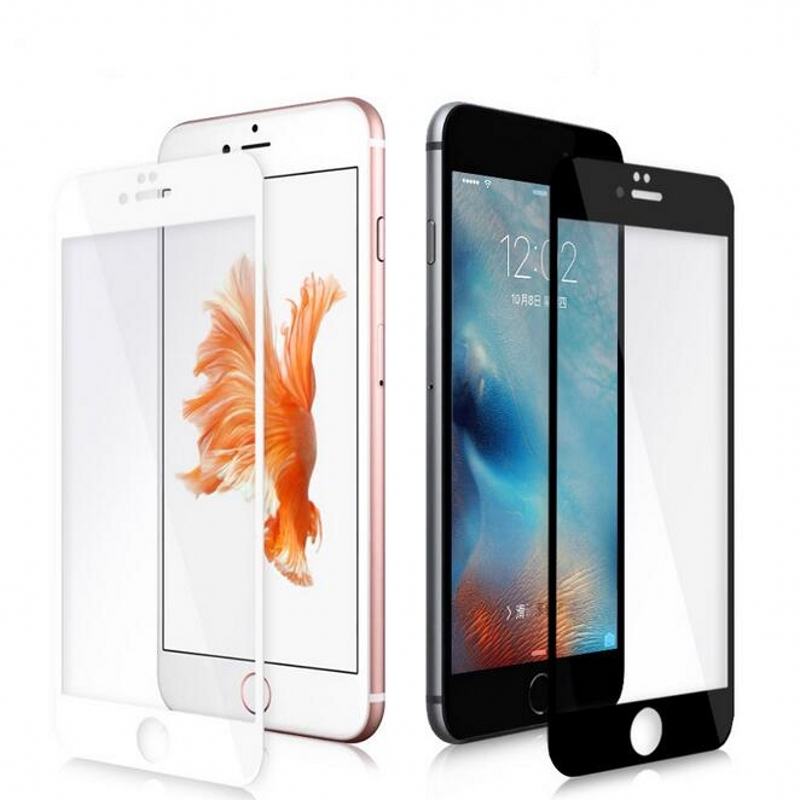 Black/White Full Cover Explosion Proof Premium Tempered Glass Toughened Screen Protector For iPhone 6 6S 4.7″ Case Screen Guard