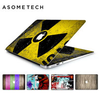 Rainbow Wooden PVC Laptop Sticker Decal For Apple Macbook Air Pro Retina 11 12 13 15inch