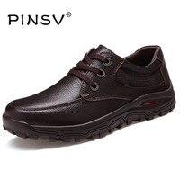 Большой Размеры 48 Мужская обувь из натуральной кожи Элитный бренд Повседневное мужские туфли на плоской подошве черный формальный Мужская ...