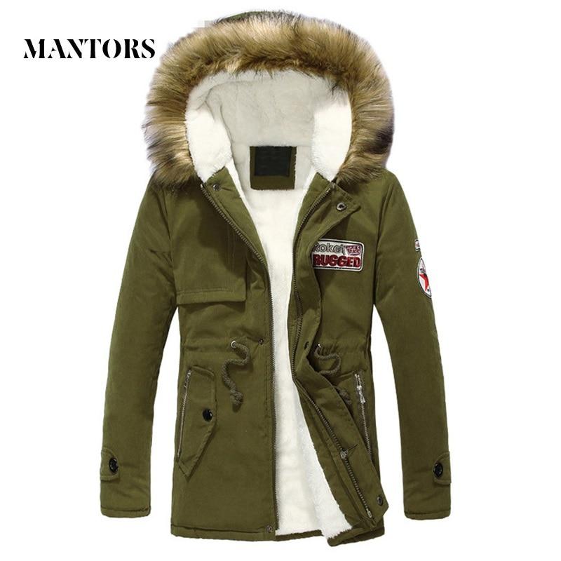 2018 Winter Dicke Männer Mit Kapuze Jacken Mode Herren Warme Fleece Solid Parka Mantel Männlichen Casual Slim Fit Zipper Pelz Mit Kapuze Outwear