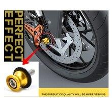 עבור אביזרי אופנוע CNC אלומיניום שחור זרוע מתלת סלילים מחוון לעמוד ברגים עבור APRILIA RS 125 צמרמורת 750 GT RS250 פאלקו/S