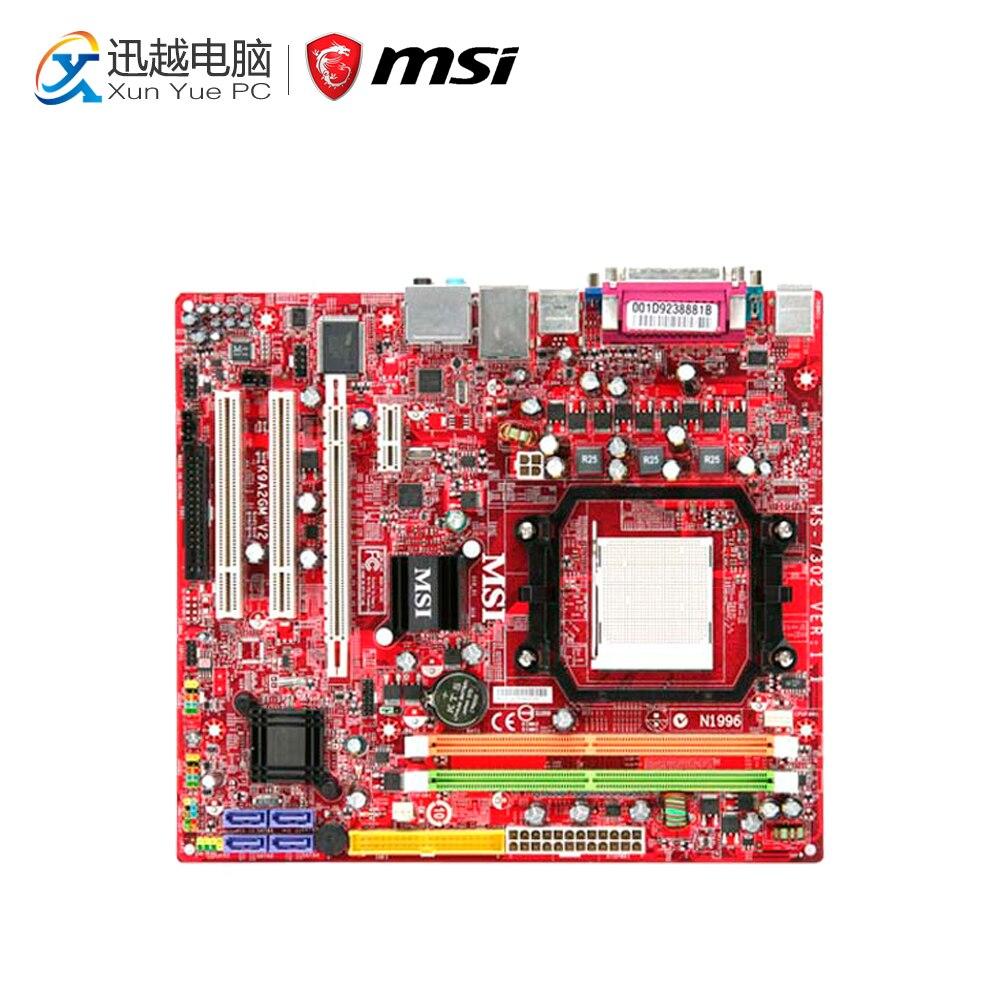 MSI K9A2GM-F V2 Desktop Motherboard 780G Socket AM2+ DDR2 STAT2 USB2.0 Micro ATX original motherboard m4n78 am v2 socket am2 am2 am3 ddr2 940 pin fully integrated desktop motherboard free shipping