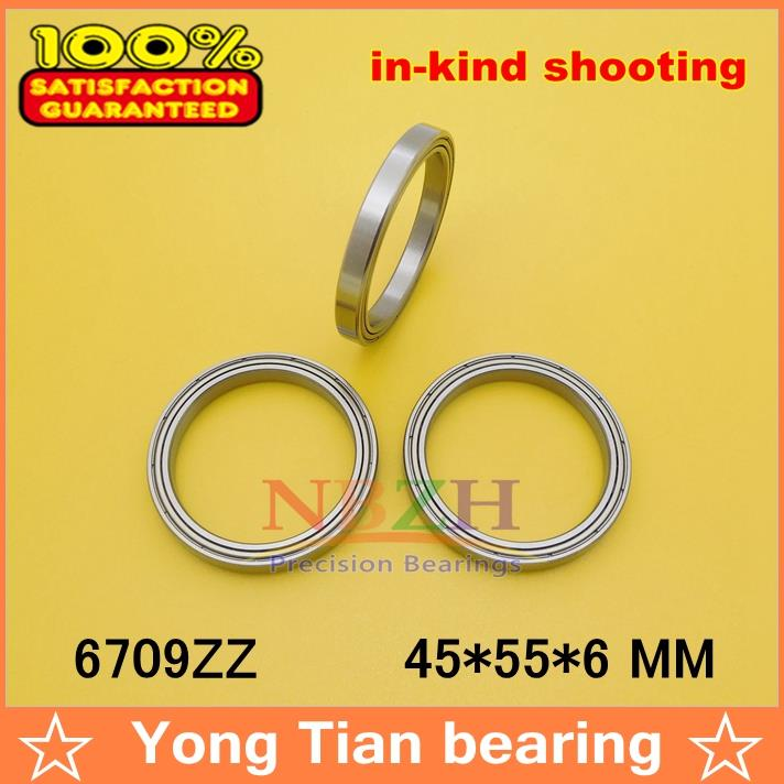 10pcs free shiping The high quality of ultra-thin deep groove ball bearings 6709ZZ 45*55*6 mm gcr15 6026 130x200x33mm high precision thin deep groove ball bearings abec 1 p0 1 pcs