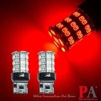 PA LED 2pcs X High Bright 55SMD 2835 5630 LED Reverse Turn Brake Tail Light RED