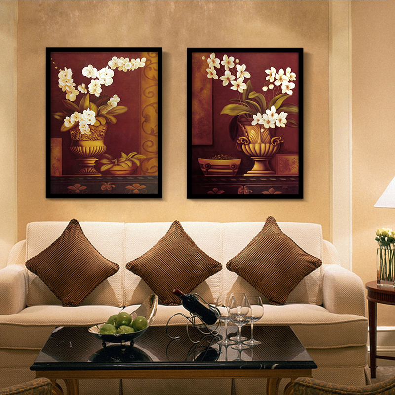 Europe Flower Canvas Oil Painting Noble Floral Wall Picture Prints For Rest Room Canvas Artwork Decor Home No Frame