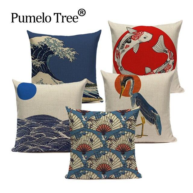 Giapponese stile retrò Cuscino cuscino decorativo CUSCINO per ufficio Complement