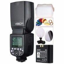 Godox Ving V860II V860II-F Speedlite Flash TTL HSS 1/8000 Bateria Li-ion para Fuji Fujifilm DSLR Camera + Kit Presente