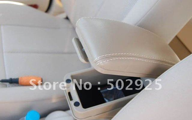 EMS Free shipping KIA K2 2012 new RIO leather car armrest box with storage function (gray, black, beige)