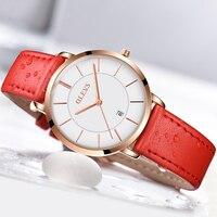 OLEVS Fashion Minimalist Women S Rose Wrist Watches Leather Watchband Luxury Brand Simple Ladies Automatic Calendar