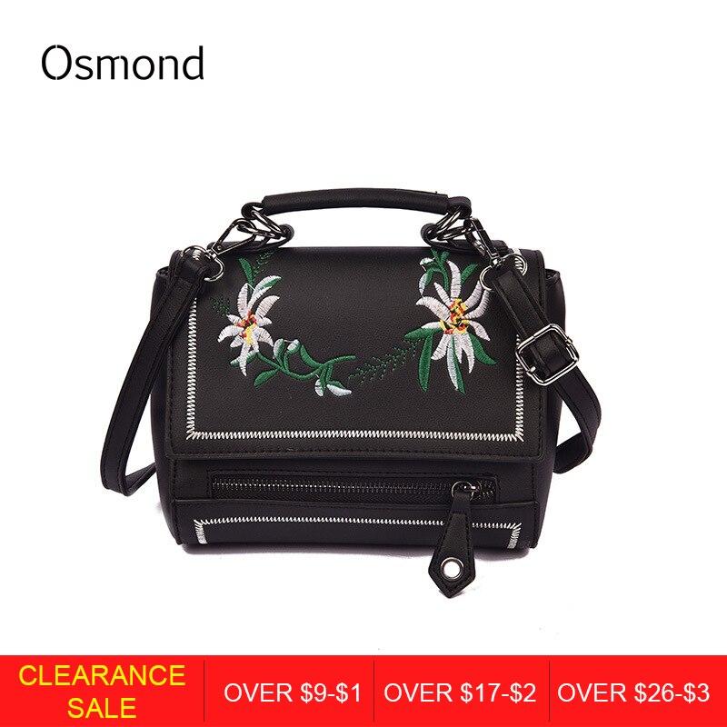 aef373649719 Осмонд Для женщин Сумки Курьерские сумки Мода Вышивка Кроссбоди сумки  женские Повседневное Сумка Высокое качество из