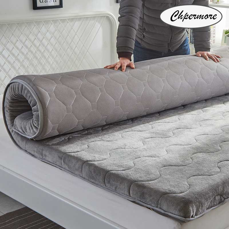 Chpermore Thicken Mattresses Keep warm Foldable Tatami Single double 100% cotton Mattress For Family Bedspreads King Size title=