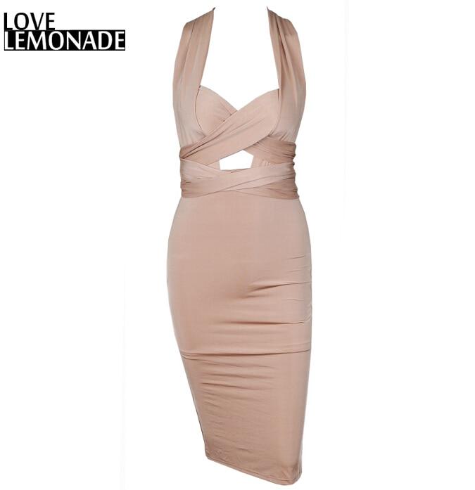 Love&Lemonade Changeable Straps Knee-Length Dress TB 8225