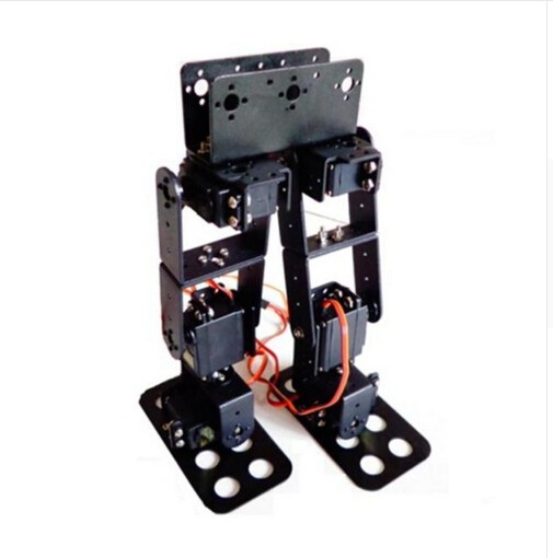6 DOF Biped Walking Humanoid Robot Servo Bracket Mechanical Arm For Robot new 17 degrees of freedom humanoid biped robot teaching and research biped robot platform model no electronic control system