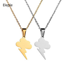 Eleple Fascinating Cloud Lighting Stainless Steel Necklaces Simple Fashion Climate Party Gifts Necklace Jewelry Factory S-N645 цена и фото