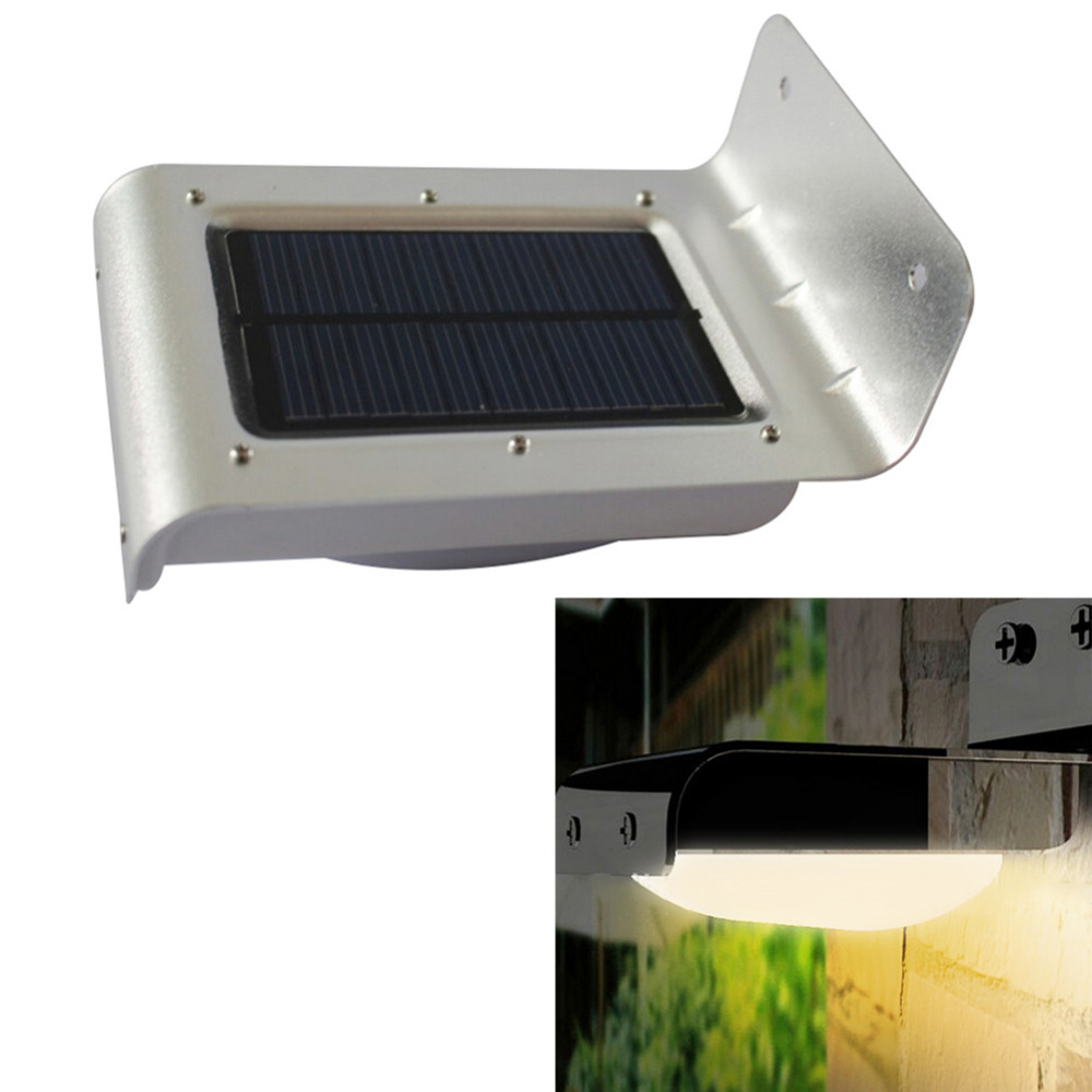 16 led solar power sensor lamp sound motion detect garden security light outdoor waterproof warm. Black Bedroom Furniture Sets. Home Design Ideas