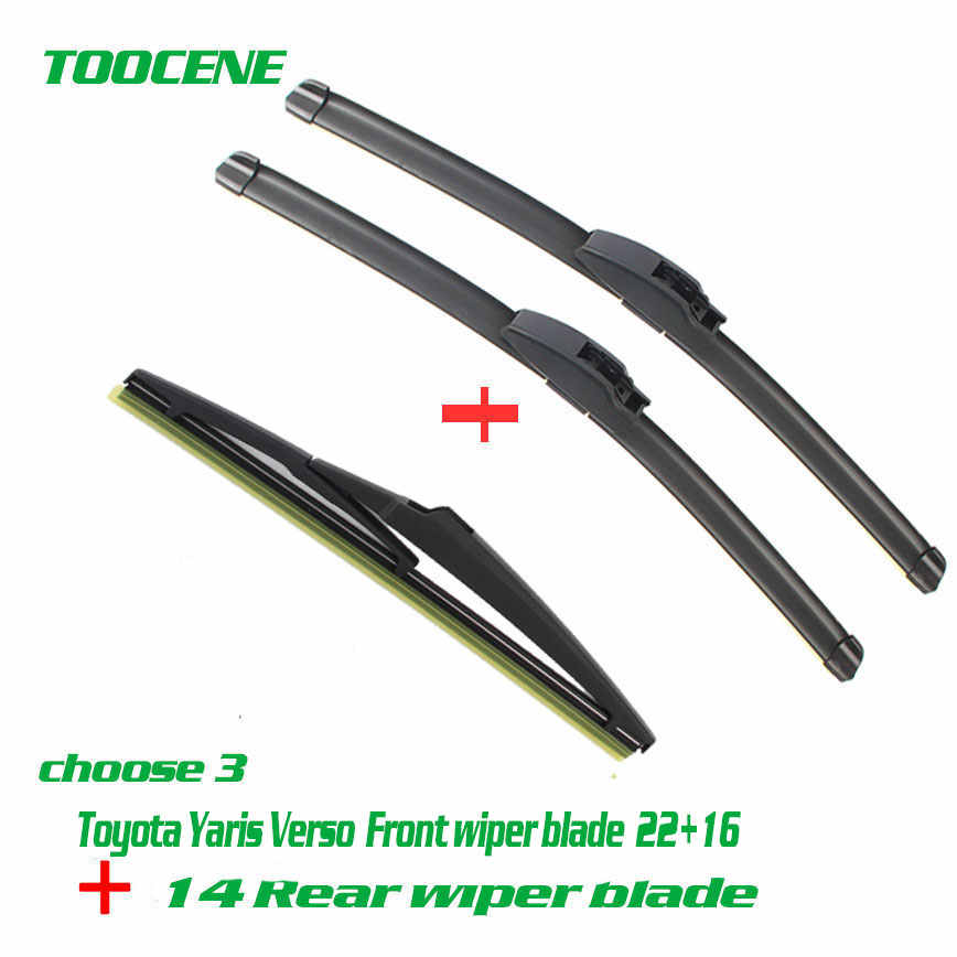 Front And Rear Wiper Blades For Toyota Yaris Verso 1999 2005 Rubber Windscreen Windshield Wipers Auto Car Accessories 22 16 16 Aliexpress