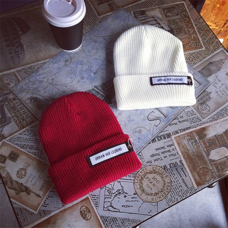 Women Winter Knitted Hat CC   Beanies   Unisex Casual Hats & Caps Men Solid Hip-Hop   Skullies     Beanie   Warm Bonnet Fashion Female