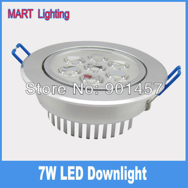 7W high power  LED recessed ceiling downlight lamp 750lm  integrated leans  kitchen cabinet light 110X45mm
