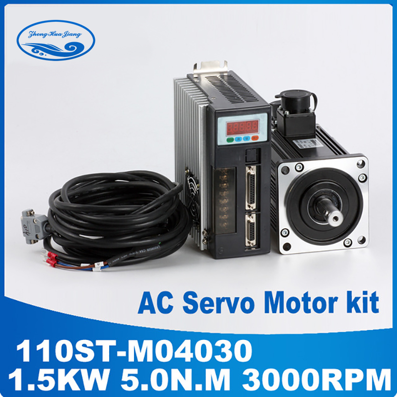 все цены на cnc servo kit 1.5KW servo motor three phase motors 3000rpm 110ST-M04030 & servo driver онлайн