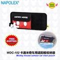 Accesorios del coche del envío historieta de Mickey mouse coche visera de la bolsa de guantes WDC-102