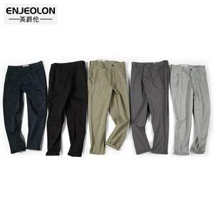 Image 3 - Enjeolon marque pantalons longs pantalon homme crayon solide pantalons décontractés hommes Top qualité vêtements homme pantalon Casual vêtements K6226