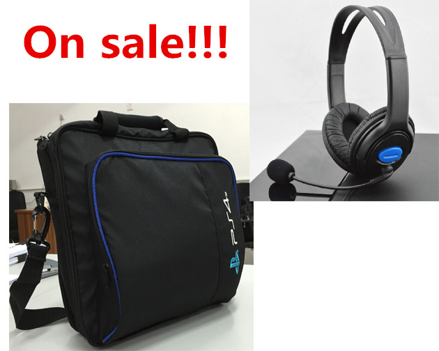 Travel Storage Case Cover Carrying Protective Bag Shoulder Bag+Chat Gaming Headset Headphone Earphone For Sony Playstation 4 PS4