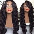 150 плотность естественная волна человеческих волос парики Glueless перед парики бразильские девственные волосы парик с волосами взрыва