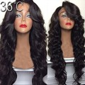 150 Density  Natural Wave Human Hair Wigs Glueless Lace Front Wigs Brazilian Virgin Hair Full Lace Wig With With Hair Bang