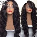 150 densidade onda Natural perucas de cabelo humano Glueless Lace Front Wigs brasileiro cabelo virgem cheia do laço peruca com com estrondo cabelo