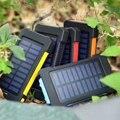 Водонепроницаемый внешний аккумулятор на солнечной энергии  20000 мАч  два USB внешних полимерных аккумулятора  внешний светильник