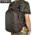 Männer Echt Leder Mode Reisetasche Universität Schule Buch Tasche Rindsleder Design Männlichen Rucksack Daypack Student Tasche 621-d