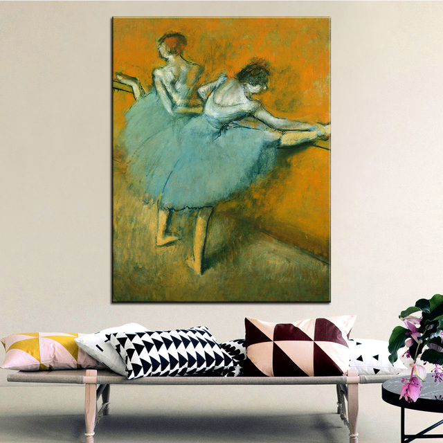 DP ARTISAN Dancers At The Barre Wall Painting Print On Canvas For Home Decor  Oil Painting