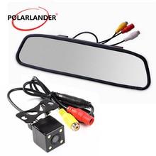"""4,"""" заднего вида, CCD Автомобильная камера заднего вида парковочная помощь ночного видения зеркало заднего вида монитор стеклянная линза камера для записи HD видео"""