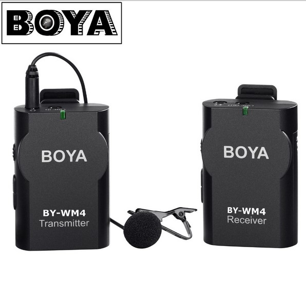 BOYA Wireless Lavalier Microphone system for Canon Nikon Panasonic DSLR Camera Camcorder Android Smartphone BY-WM4 Microphone