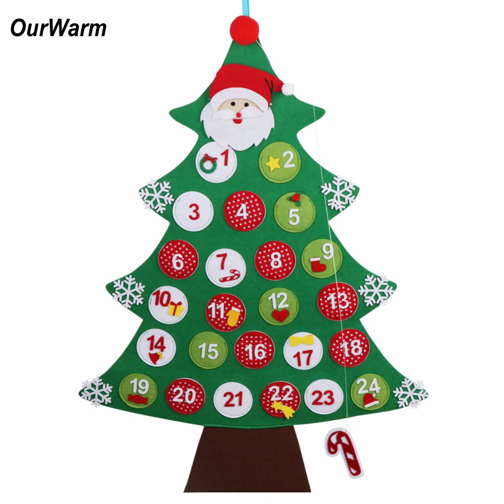ourwarm felt christmas advent calendar new year 39 s products hanging christmas countdown calendar. Black Bedroom Furniture Sets. Home Design Ideas