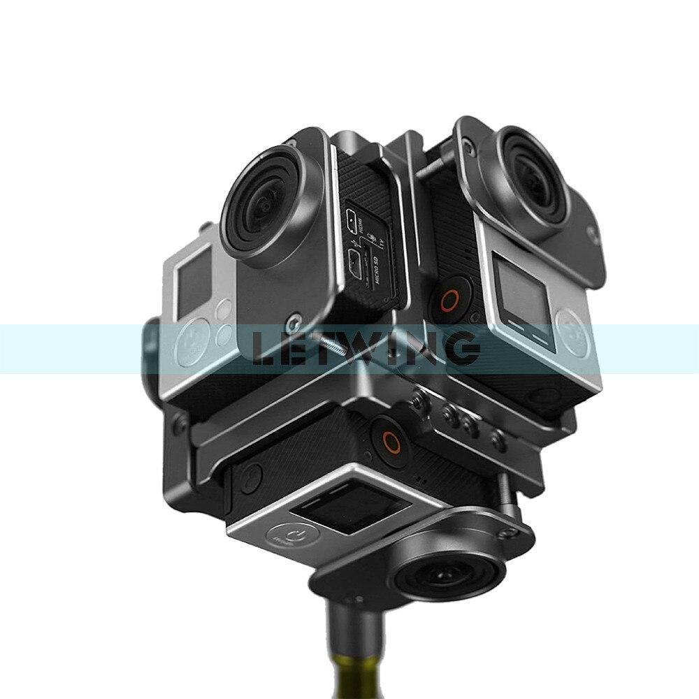 360 градусов панорамный кронштейн полный вид стенд основной изображений видео оборудования Спорт Камера Интимные аксессуары для gopros Hero 3/3 +/ 4